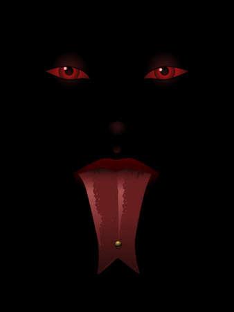 Devil woman illustration