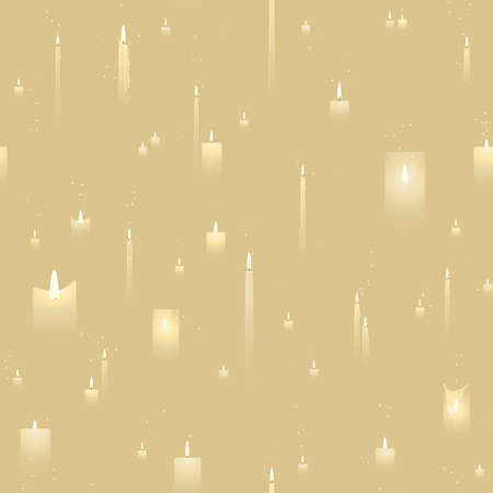 Wedding candles seamless background Zdjęcie Seryjne - 5502136
