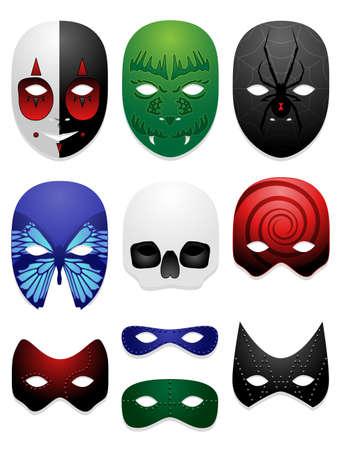 Mask design illustrations