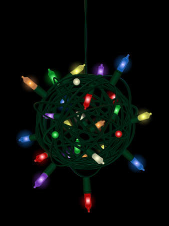 Christmas light tangle