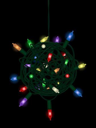 Christmas light tangle