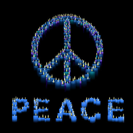 Candle Peace sign Stock Vector - 5535019