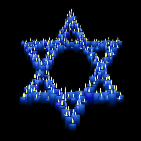 jews: Candle star of David