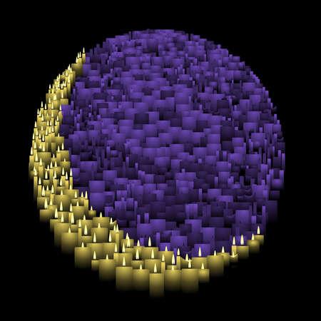 キャンドル月面図