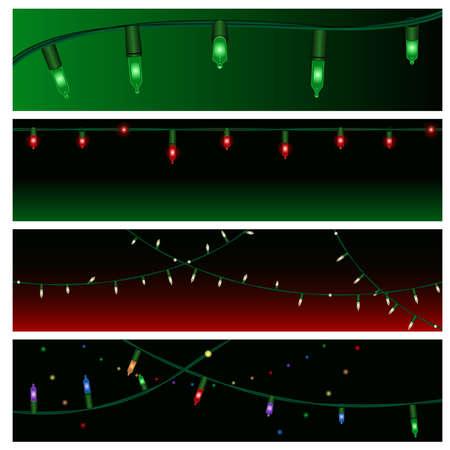 christmas bulbs: Christmas light banners