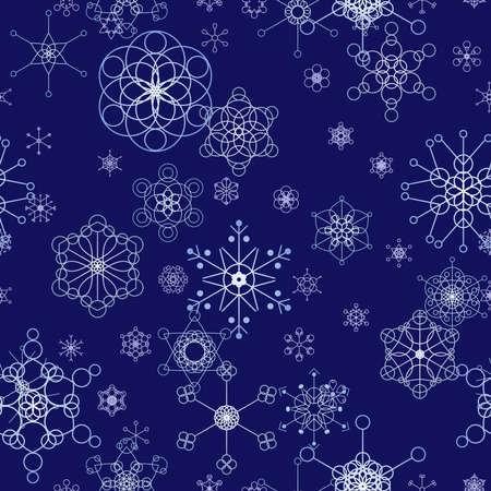 冬のシームレスなタイル  イラスト・ベクター素材