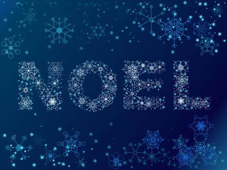 Snowflake Noel illustration