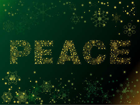 Snowflake PEACE illustration Ilustrace