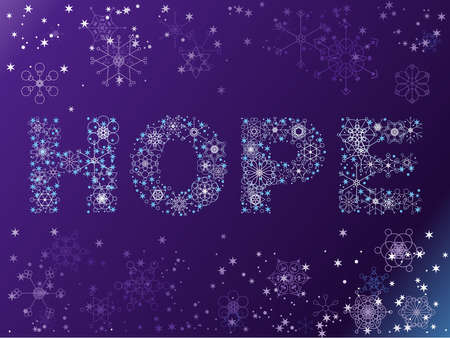 Snowflake HOPE background Ilustracja