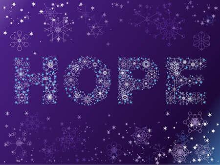 Snowflake HOPE background Illustration