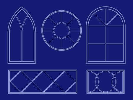 Blueprint window illustrations
