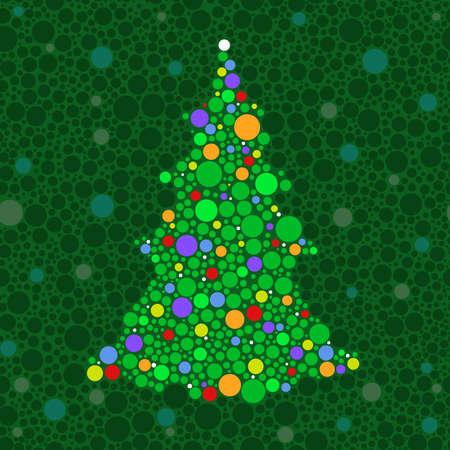 Dot Christmas tree Stock Vector - 5790638