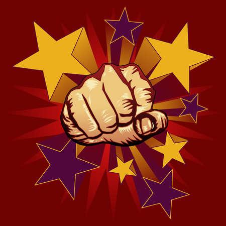 Punching fist illustration Иллюстрация