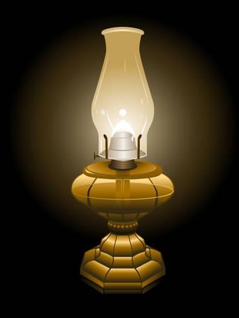 lamp: Hurricane lamp illustration