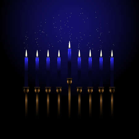 Menorah with sparks Vector