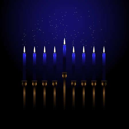 menorah: Menorah with sparks