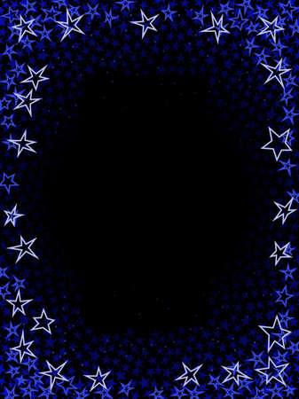 Blue star frame