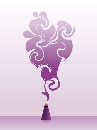 Purple swirly incense
