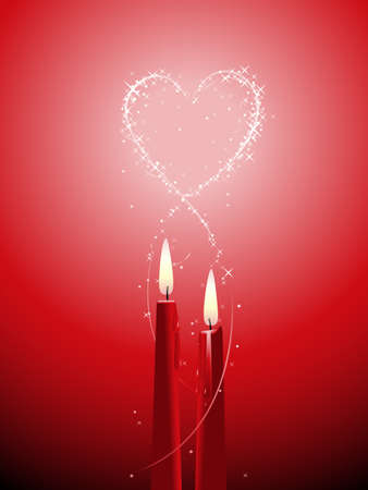 Romantic candle background