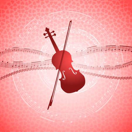 Romantic music background