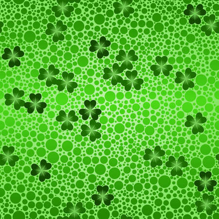 Green seamless shamrock beer background Vector