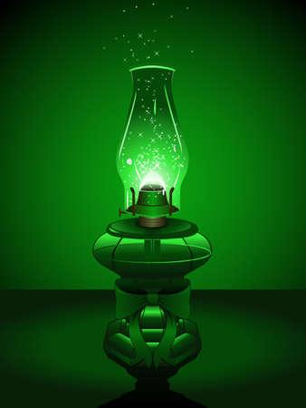 Green Christmas lantern