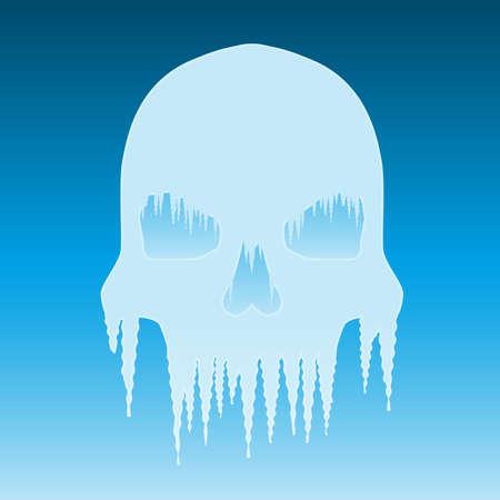 Icicle skull illustration