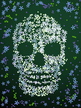 Floral skull design Illustration
