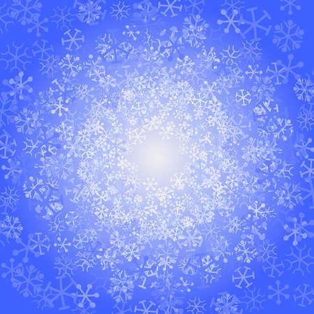 渦巻く雪背景  イラスト・ベクター素材