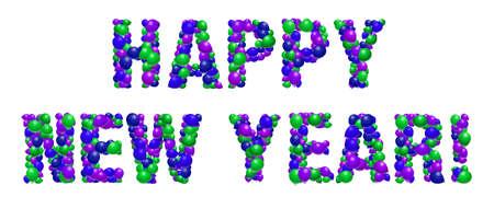 happy new year: Happy New Year balloon sign Illustration
