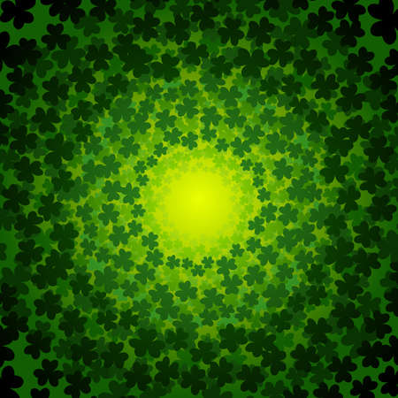 Green clover background Vector