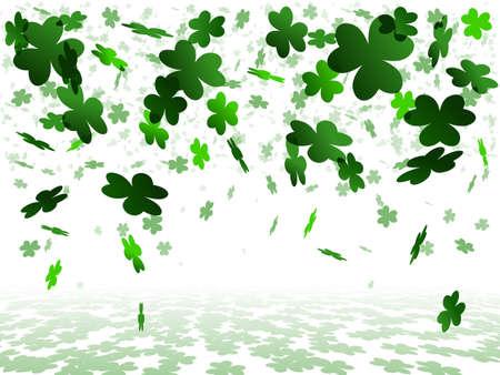 clovers: White shamrock background