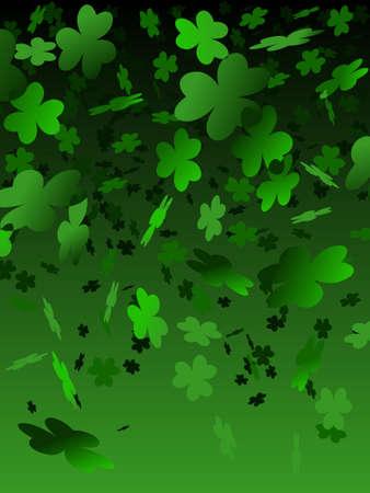 Green shamrock background Stock Vector - 6159964