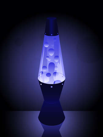 Lavalamp in blue Vector