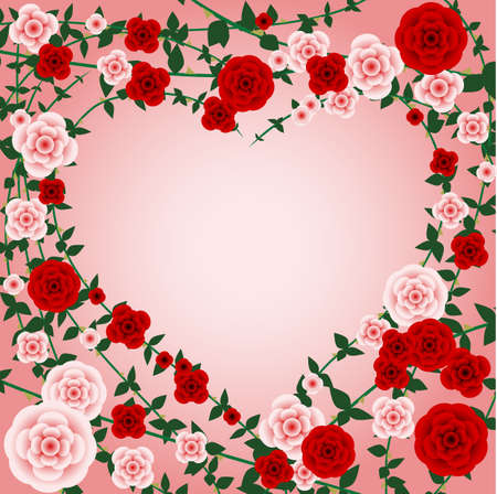 rose: Rose heart frame
