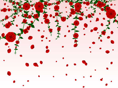 Hanging roses background