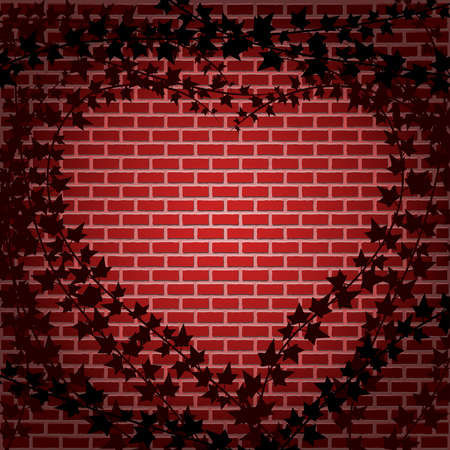 Ivy and brick heart