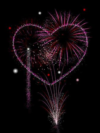 display: Valentines fireworks display