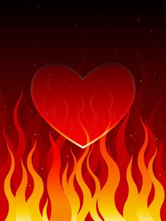 Burning desire illustration Illusztráció