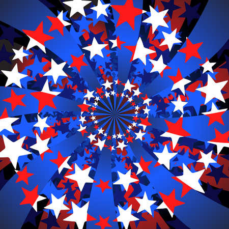 Stars and stripes swirl Vector