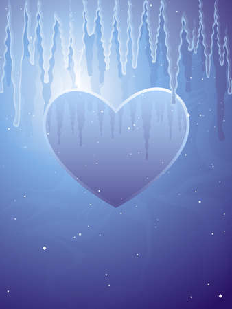 Frozen heart illustration