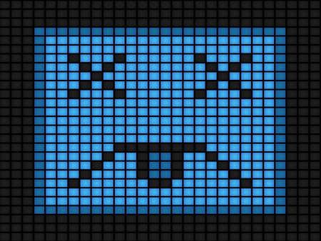 glitch: Illustrazione di virus informatico