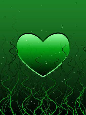 Entanlged heart illustration