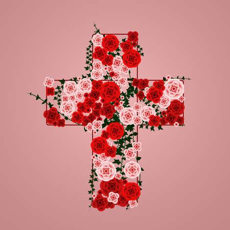 Cross of flowers Ilustracja