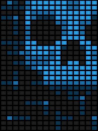Vertical computer virus background Vector