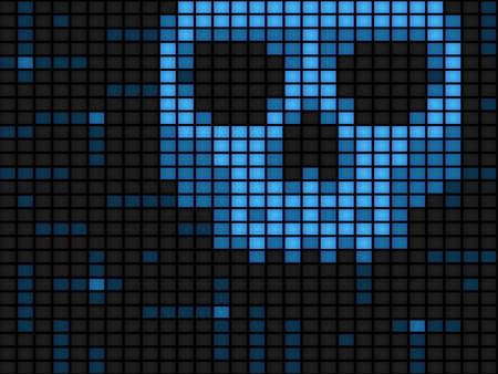 virus informatico: Segundo plano horizontal de virus inform�ticos