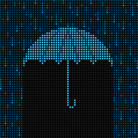 LED umbrella and rain