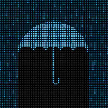 drench: LED umbrella and rain