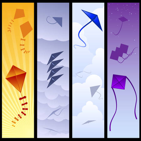Kite banners  Vector