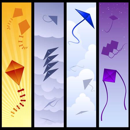 flying kite: Kite banners